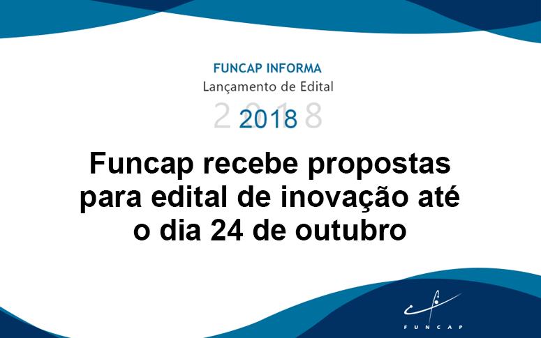 Propostas para edital de inovação podem ser enviadas até 24 de outubro