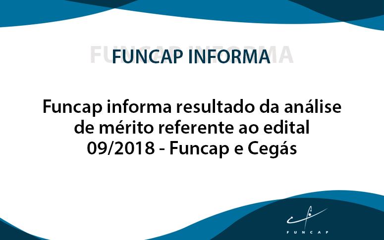 Funcap informa resultado da análise de mérito referente ao edital 09/2018