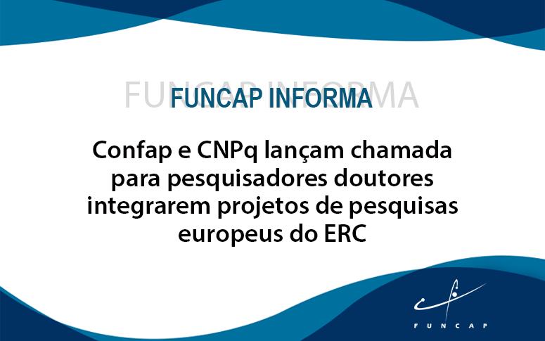 Confap e CNPq lançam chamada para projetos de pesquisas do ERC