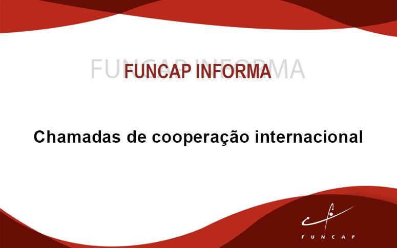 Chamadas de Cooperação Internacional